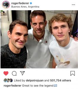 Federer, Del Potro and Zverev
