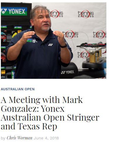 Mark Gonzales Yonex Texas Rep Blog Snippet