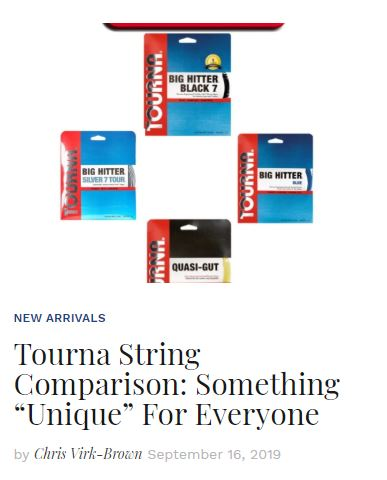 Tourna Tennis String Comparison Blog Snippet