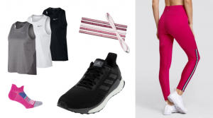Women's training apparel and shoes