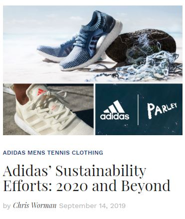 Adidas Sustainability Efforts: 2020 and Beyond Blog