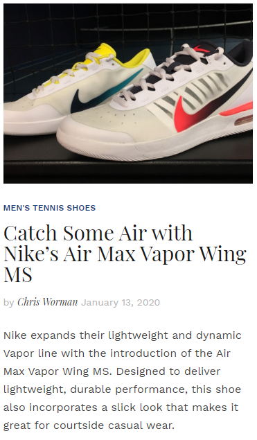 Catch Some Air with Nike's Air Max Vapor Wing MS