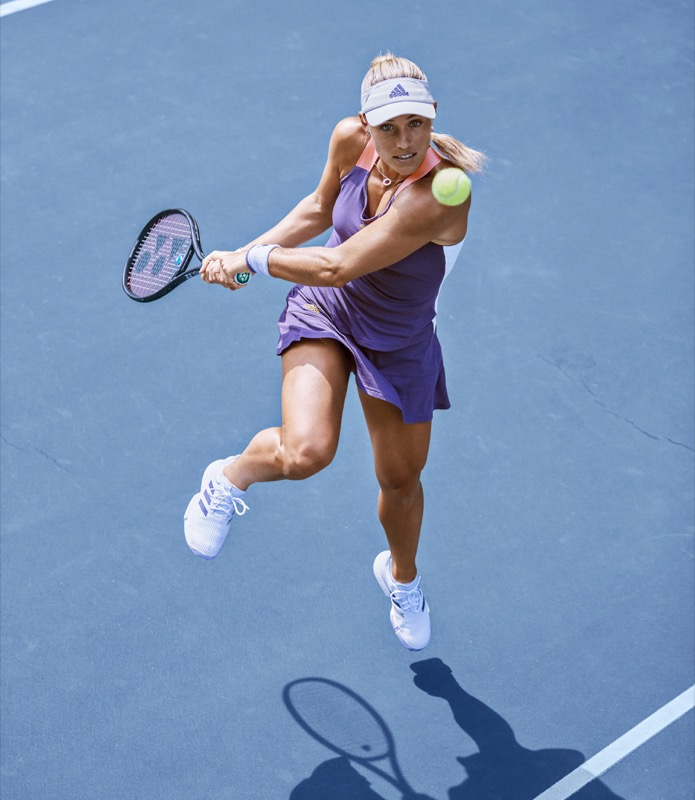 Angie Kerber in adidas HEAT.RDY Tank and Skort