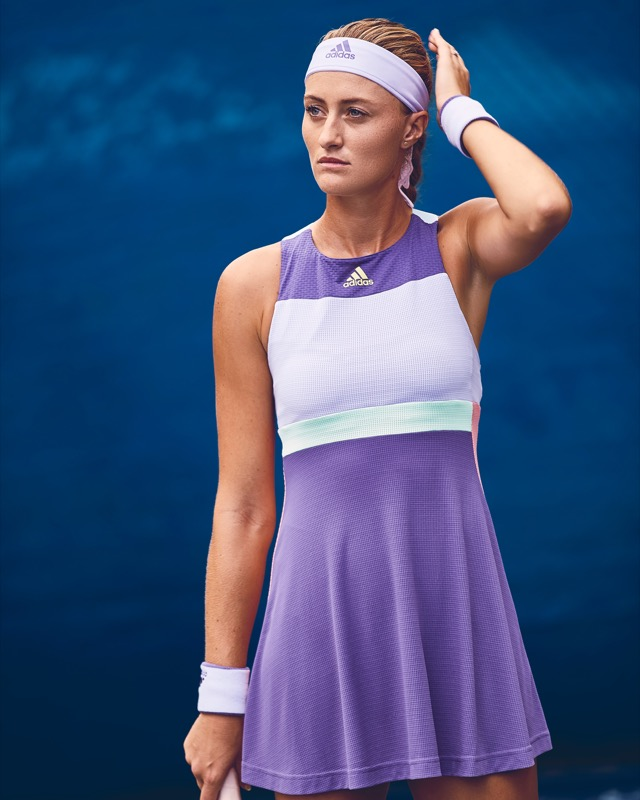 Kristina Mladenovic in HEAT.RDY Adidas Dress