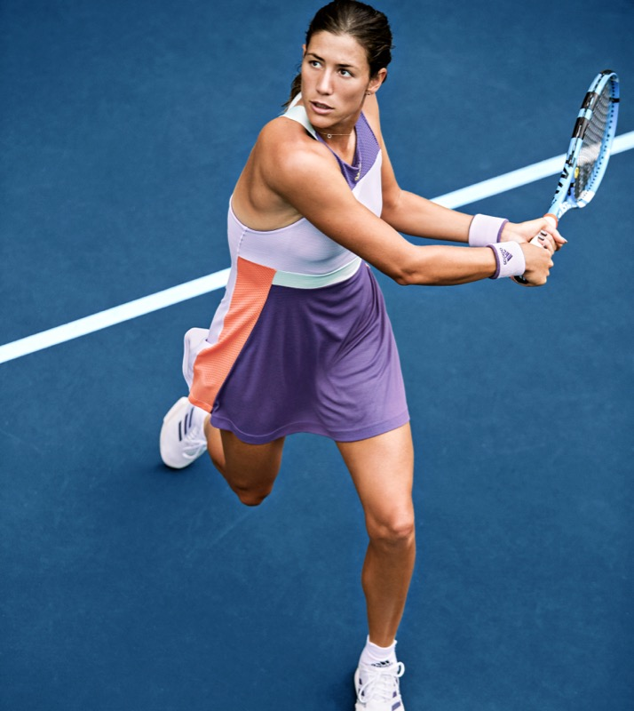 Garbine Muguruza in Adidas HEAT.RDY Dress