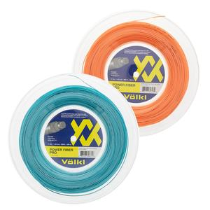 Volkl Power Fiber Pro Neon Orange and Turquoise Tennis String Reel
