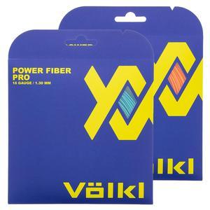 Volkl Power Fiber Pro Neon Orange and Turquoise Tennis String