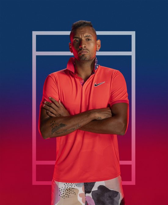 Nick Kygrios Nike Melbourne Breathe Polo SP20 Shot