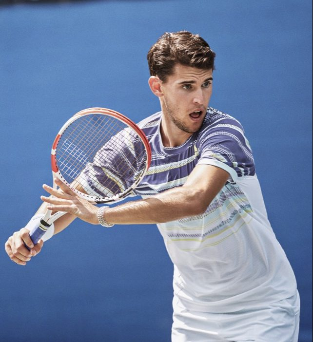 Dominic Thiem HEAT.RDY Adidas Top in Tech Purple and White