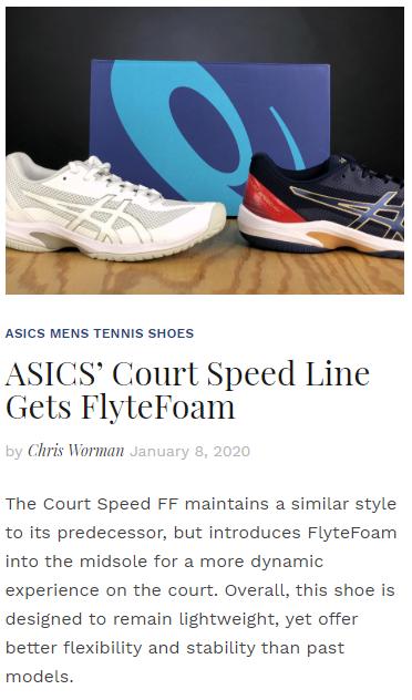ASICS' Court Speed Line Gets FlyteFoam