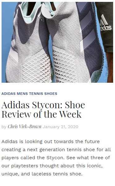 Adidas Stycon - Shoe Review of the Week