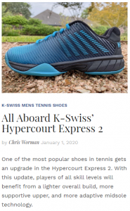 All Aboard K-Swiss' Hypercourt Express 2