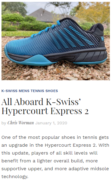 All Aboard K-Swiss' Hypercourt Express 2