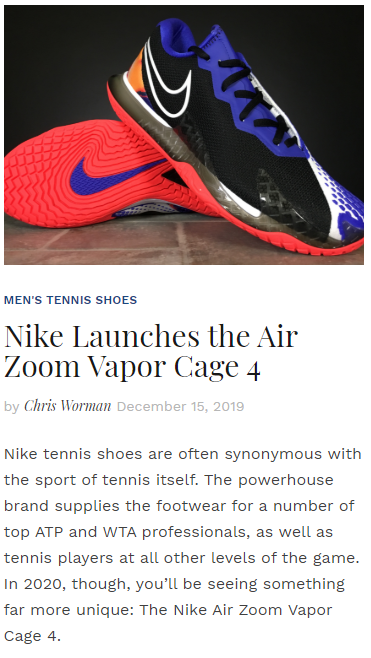 Nike Launches the Air Zoom Vapor Cage 4