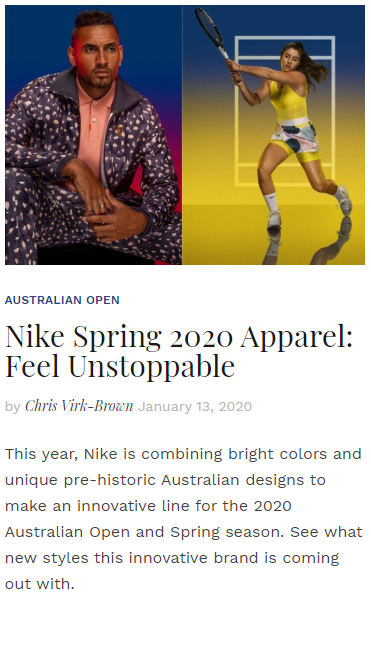 Nike Spring 2020 Apparel - Feel Unstoppable