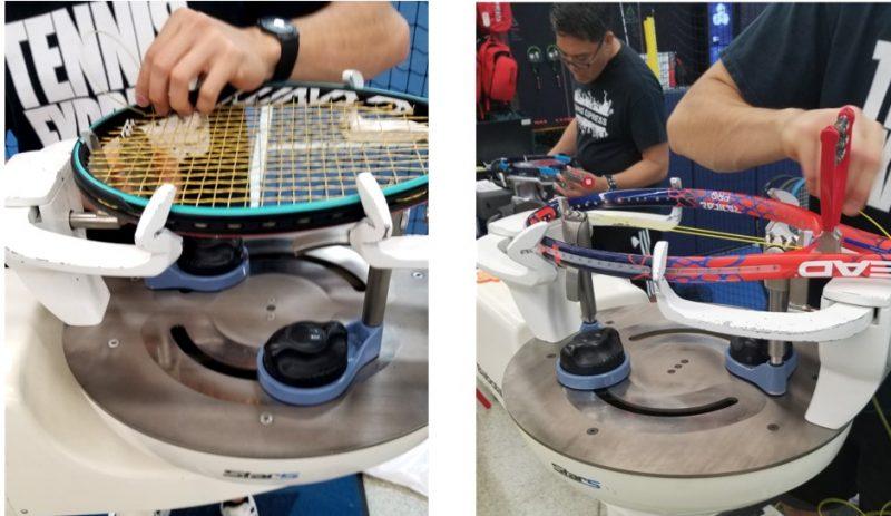 Closeup Shots of Tennis Express Racquet Stringers