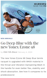 Go Deep Blue with the New Yonex Ezone 98