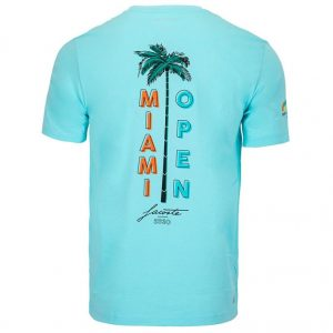 Lacoste Men's Miami Open Spine Graphic Tennis Tee Back angle