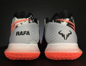 Rafael Nadal's Asteroid Vapor Cage 4 Tennis Shoes Heel