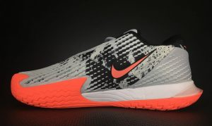 Rafael Nadal's Asteroid Vapor Cage 4 Tennis Shoes Medial Side