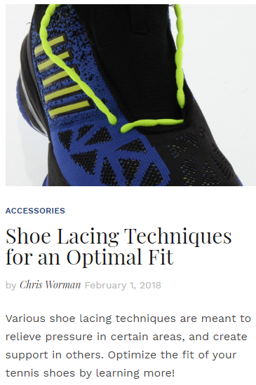 Shoe Lacing Techniques for an Optimal Fit