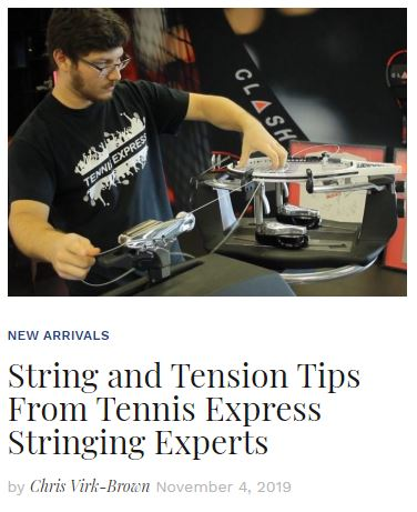 String and Tensions Tips from Tennis Express Stringing Experts blog