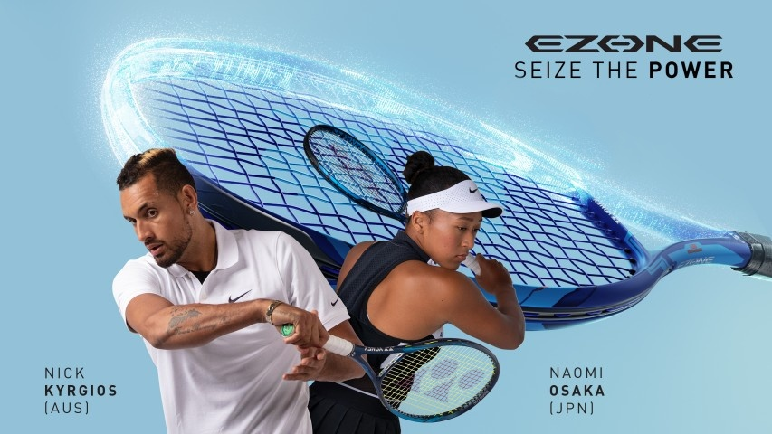 Yonex EZone 98 Tennis Racquet promotion with Naomi Osaka and Nick Kygrios