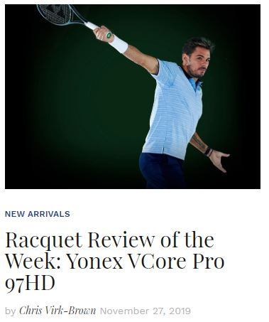 Yonex VCore Pro 97HD Tennis Racquet Review Blog Snippet