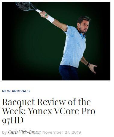 Yonex VCore Pro 97HD Tennis Racquet Review Blog Snippet