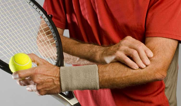 man with tennis elbow