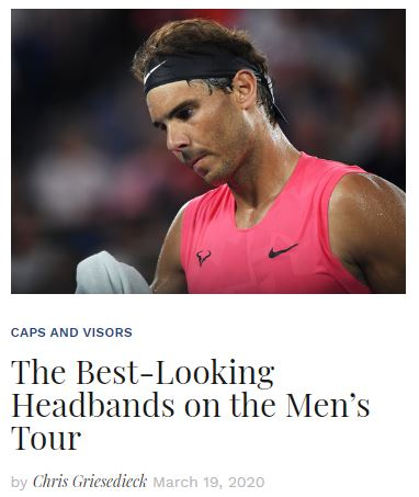 Best Tennis Headbands on the Mens Tour Blog