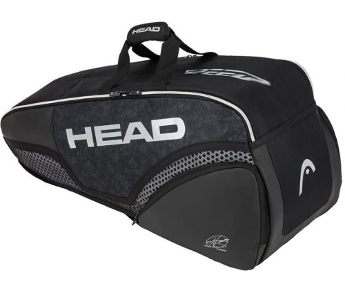 Head Djokovic 6R Combi Tennis Bag All Black