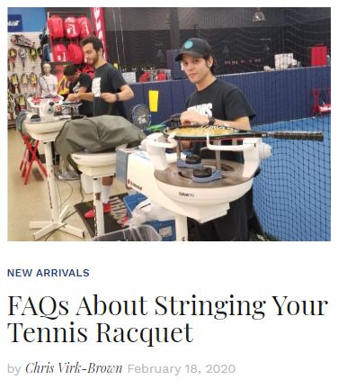 FAQs About Stringing Your Tennis Racquet Blog