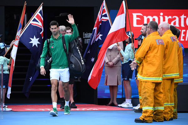 Novak Djokovic on day 14 of the 2020 Australian Open Source: Feb 1, 2020 - Getty Images AsiaPac)