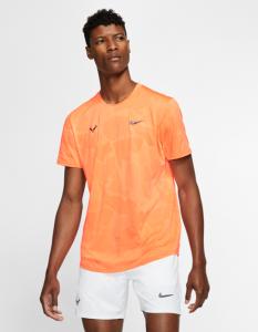 Rafael Nadal's AeroReact Short Sleeve Tennis Top Front