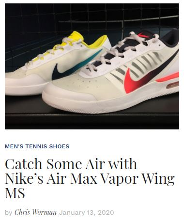 Nike Air Vapor Wing Tennis Shoe blog