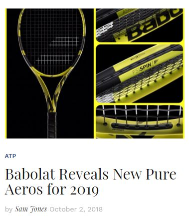 Babolat Reveals their New Pure Aeros for 2019 Blog