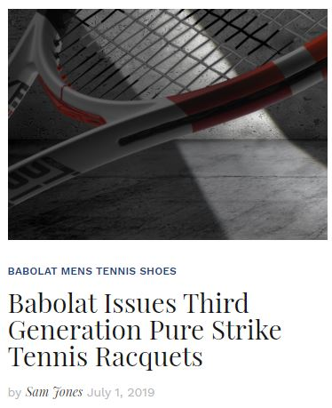 Babolat Issues 3rd Generation Pure Strike Tennis Racquets Blog