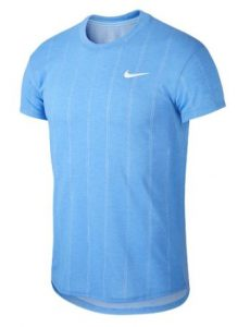Nike Court Challenger Short Sleeve Tennis Top Royal Pulse