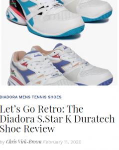 Diadora S.Star K Duratech Shoe Review