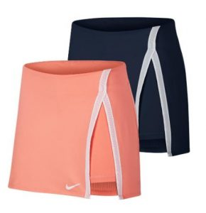 Nike Womens Elevated Essentials Straight Tennis Skort Sunblush Obsidian