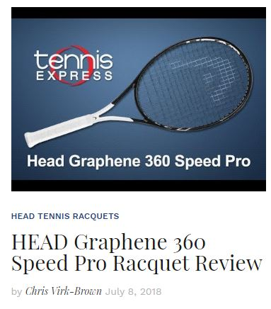 Head Graphene 360 Speed Pro Review Bliog Thumbnail