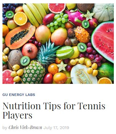 Nutrition Tips for Tennis Players Blog