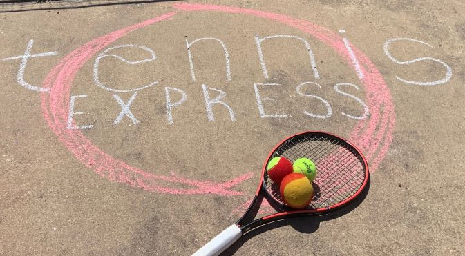 Tennis Express with Red, Foam, yellow balls