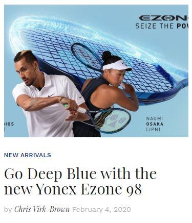 2020 Yonex Ezone 98 Racquet Review blog