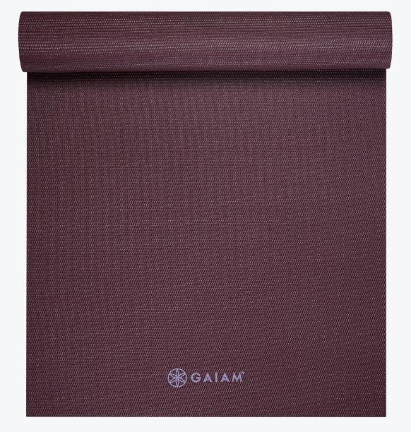 Gaiam Classic Yoga Mat Maroon