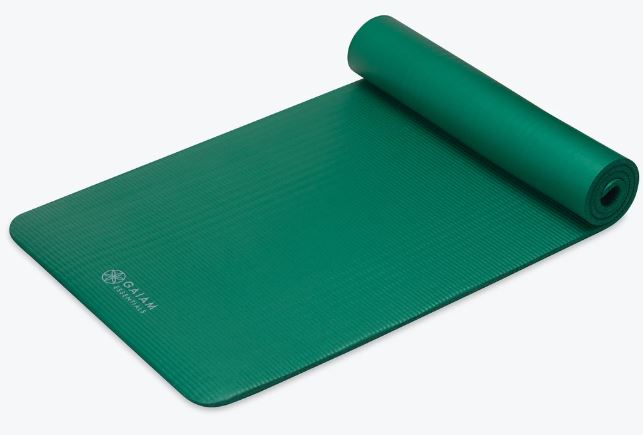 Gaiam Essentials Fitness Mat and Strap Green