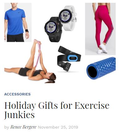 Holiday Gifts for Exercise Junkies blog
