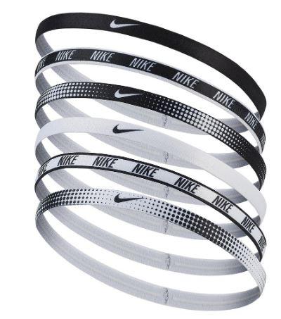 Nike Womens Assorted Thin Headbands 6 pack