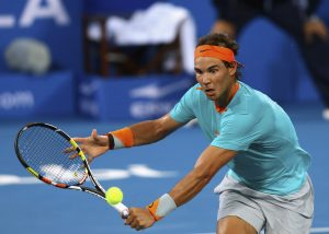 Rafa Nadal in Abu Dhabi playing against Andy Murray (Source: Jan 2, 2015 - Francois Nel/Getty Images)